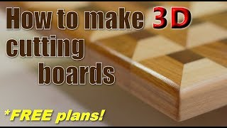 Woodworking: How to make 3D cutting boards (FREE plans!)