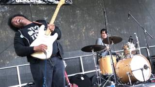 Amazing Guitar Solo ala Hendrix with Seattle's Delvon Lamarr Organ Trio Rock Folklife 2017