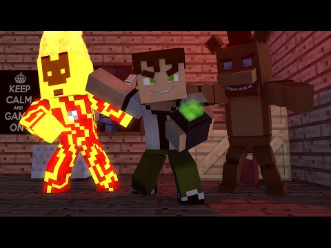 Minecraft Ben 10 vs Five Nights At Freddy's - Batalhas Sky Wars