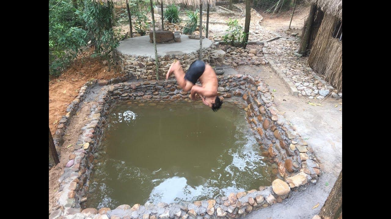 Primitive Life:Stone-Swimming Pool-part2!