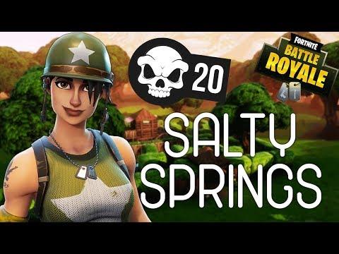 SALTY SPRINGS! - Fortnite Battle Royale Gameplay