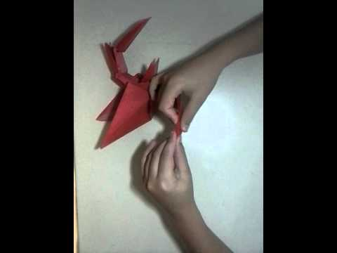 How to make a origami Wyvern by for me (part 2)