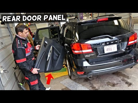 DODGE JOURNEY REAR DOOR PANEL REMOVAL REPLACEMENT. FIAT FREEMONT