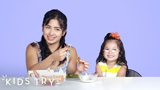 Download Kids Try Their Mom's Pregnancy Cravings: Part 2 | Kids Try | HiHo Kids Mp3 and Videos