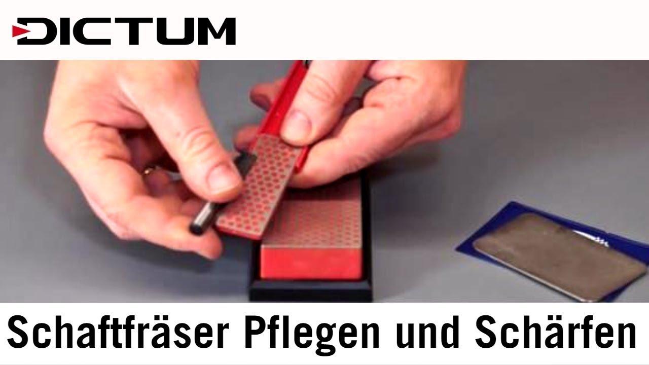 Gut bekannt Schaftfräser Pflegen und selbst Schärfen - Oberfräse - DICTUM DC05