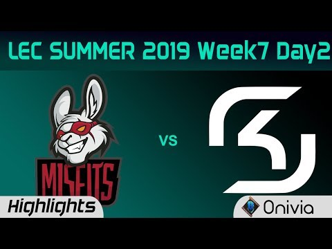 MSF vs SK Highlights LEC Summer 2019 W7D2 Misfits Gaming vs SK Gaming LEC Highlights By Onivia