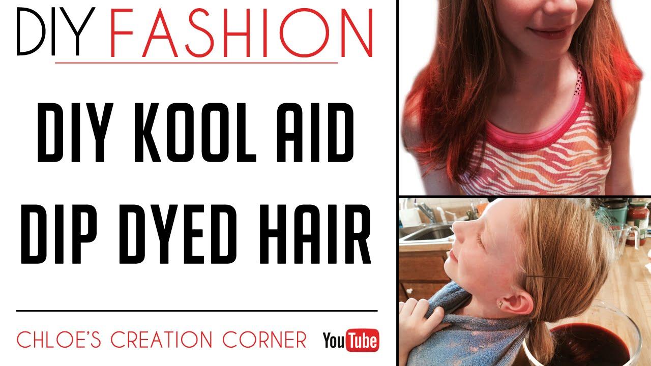 DIY Kool Aid Dip Dyed Hair | Kool Aid Hair Tutorial - YouTube
