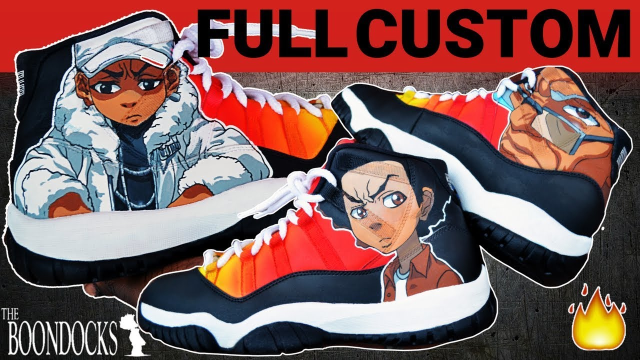 new concept e3136 ce2b7 Full Custom   Boondocks Jordan 11 s by Sierato
