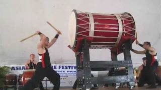 Asian Festival: Japanese Taiko drums at Fruit & Spice Park performe...