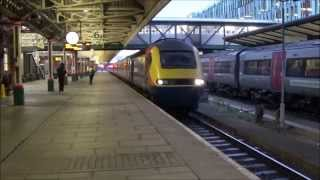 [HD] | East Midlands Trains 43066 & 43073 HST's | Departing Nottingham Railway Station | 09/12/2014