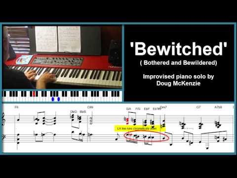 'Bewitched' (from Pal Joey) - solo jazz piano tutorial