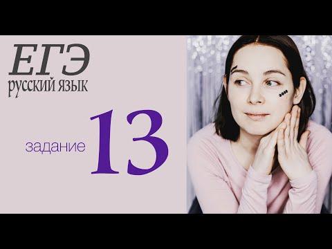 Задание 13. ЕГЭ по русскому языку 2020. Слитное и раздельное написание НЕ с разными частями речи.
