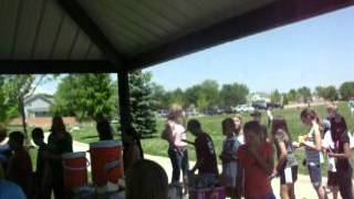Last Day of school picnic with all the 5th graders.
