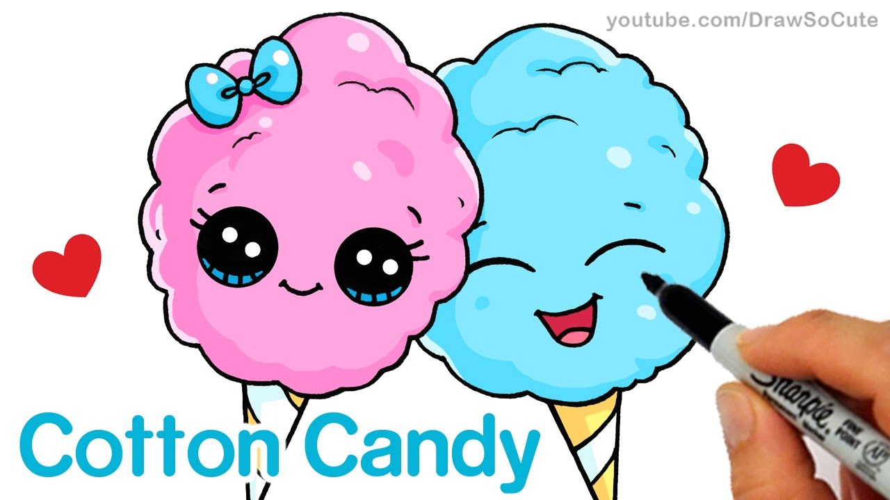 Uncategorized How To Draw Candy Step By Step how to draw cotton candy easy cartoon food youtube