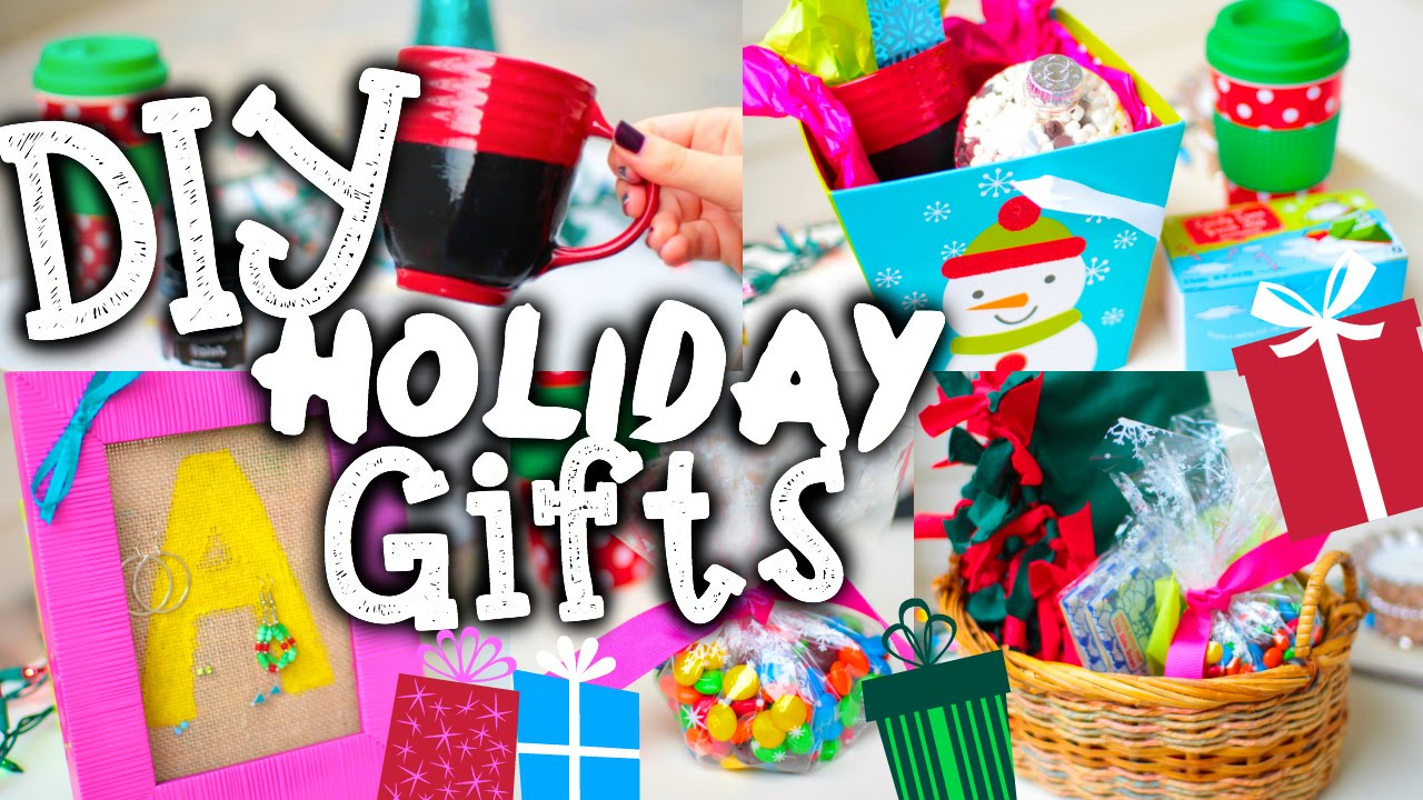 Easy DIY Christmas Gifts + Holiday Gift Guide! - YouTube