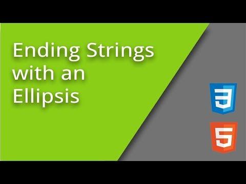 CSS Ellipsis