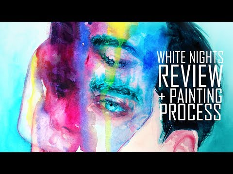 White Nights Watercolor Short Review + Painting Process