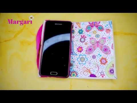 6d830f11395 Como hacer funda para celular / movil en forma de libro, Manualidades para  vender 💖 | Margari