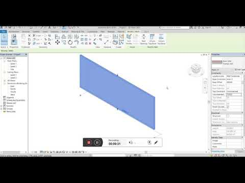Revit Wall Tutorial Step-by-step 2019