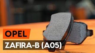 Гледайте видео ръководство за това как да заменете Комплект накладки на OPEL ZAFIRA B (A05)