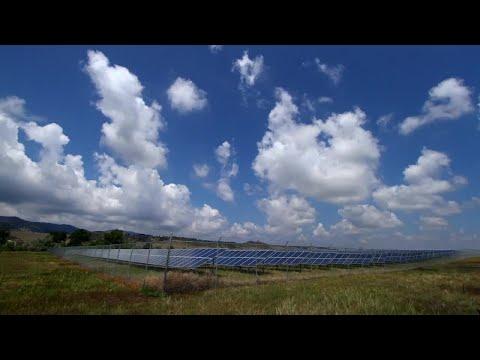 Solar Panel Array Stock Video