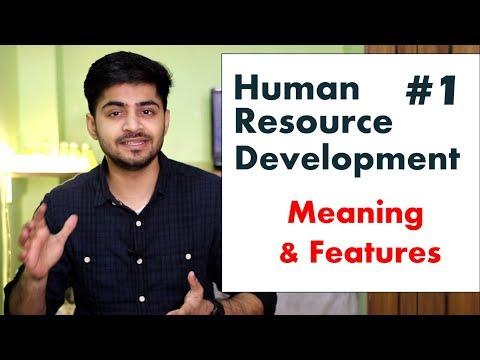 #1 HUMAN RESOURCE DEVELOPMENT IN HINDI   Meaning \u0026 Features (Characteristics)   BBA/MBA/Bcom Explain