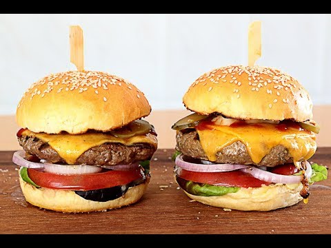 Pan de hamburguesa + Receta de hamburguesa👌 🇬🇧Hamburger buns + Hamburger Recipe