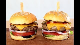 Pan de hamburguesa + Receta de hamburguesa Hamburger buns + Hamburger Recipe