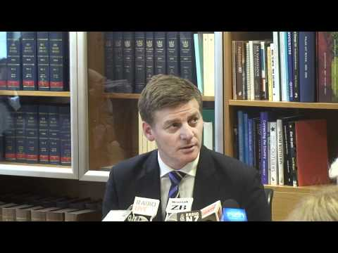 Finance Minister Bill English - Press Conference