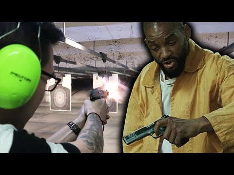 SHOOTING DEADSHOT'S 1911 FROM SUICIDE SQUAD!! GUN RANGE TAKEOVER!