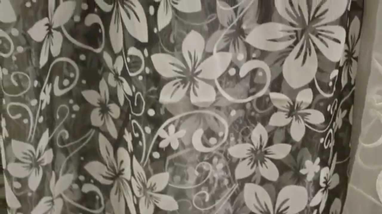 Коллекция тюль Органза. 4318. Декор - мелкий цветок. Основа серая .