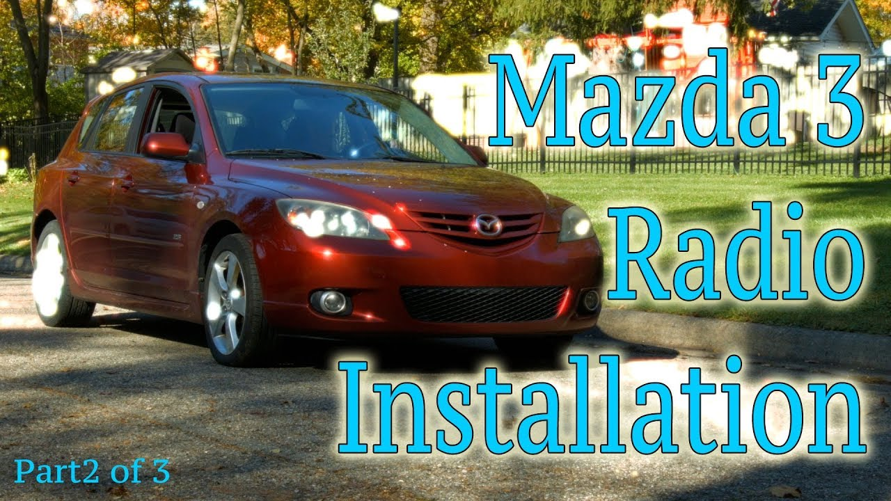 Part 2 Of How To Install A Radio In Mazda 3 Youtube Boss Bv9990 Wiring Harness