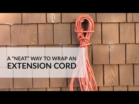 """A """"Neat"""" Way to Wrap an Extension Cord"""