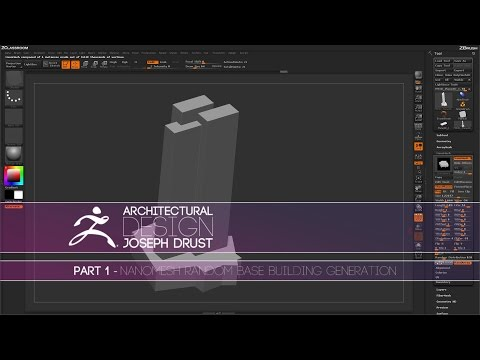 ZBrush Architectural Design - Part 1
