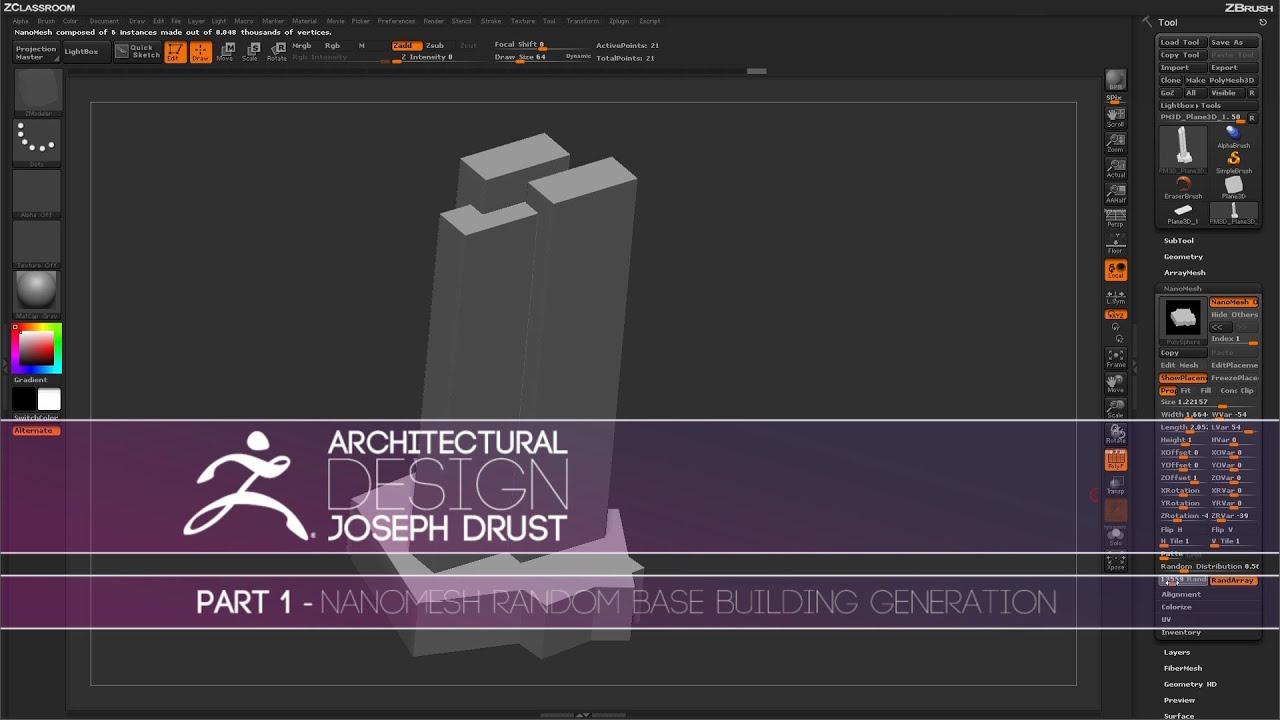 Amazing ZBrush Architectural Design   Part 1   YouTube