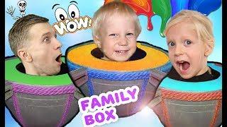 СМЕШНОЙ и СТРАШНЫЙ парк развлечений для детей квест челлендж для семьи ВЛОГ для детей от Family box