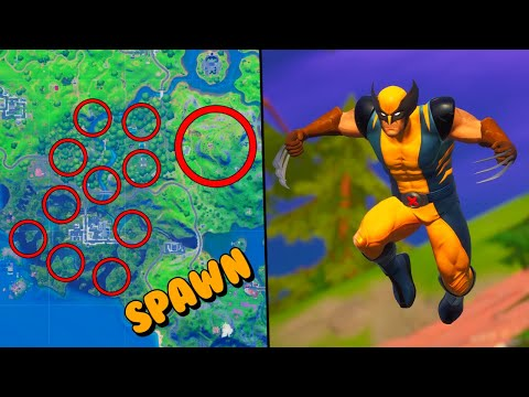 ALL WOLVERINE SPAWN LOCATIONS in Fortnite - How to FIND Wolverine *Guide*