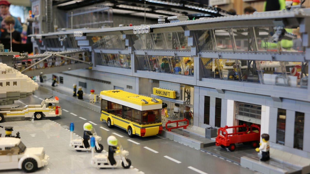 Lego Moc Flughafen Hamburg Mit Boeing 747 Stein Hanse 2016 Youtube