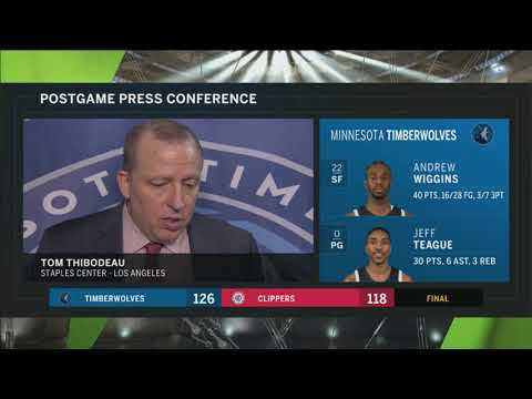 Tom Thibodeau: We feel we have more than enough to win with