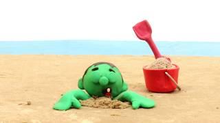 Hole 💕Superhero Play Doh Stop motion cartoons