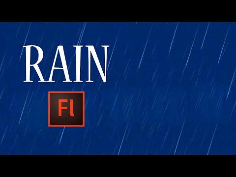 Flash Animation Tutorial - Animate Rain in Flash