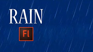 Flash Animation Tutorial - Animate Rain in Flash