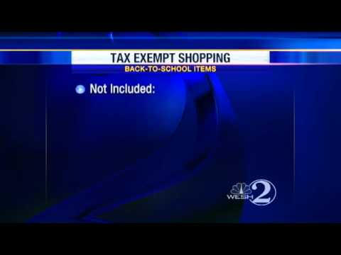 Tax-Free Holiday Begins Friday