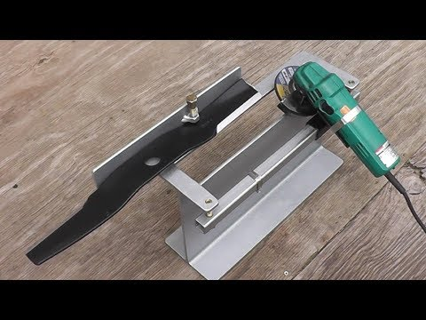 Diy Lawnmower Blade Sharpening Jig Fixture How To Save