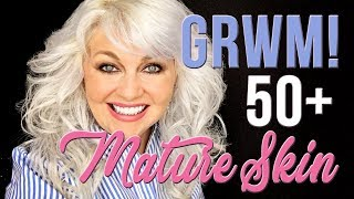 GET READY WITH ME: A TUTORIAL for 50+ Mature Skin