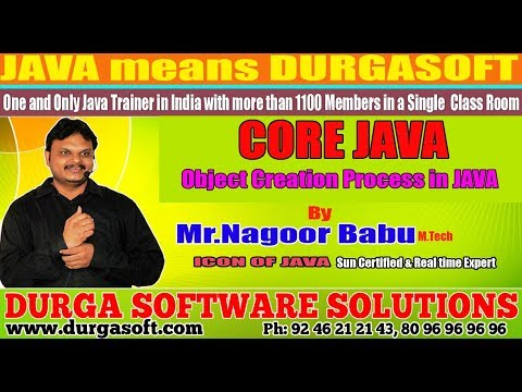 Core Java || Object Creation Process in JAVA by Nagoor Babu sir