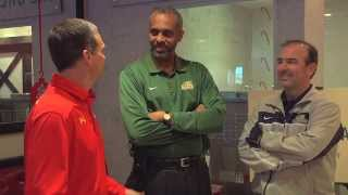 Basketball Head Coaches from GW, GMU and UMD Compete in a Milkshake Contest for BB&T Classic