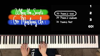 WHEN THE SAINTS GO MARCHING IN (w duet play-along), Faber Level 2A