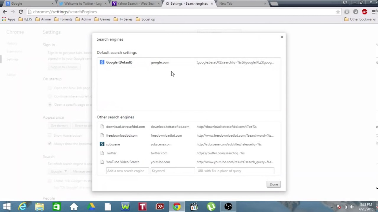 How To Remove Yahoo Search Engine From Google Chrome  People Search Engines