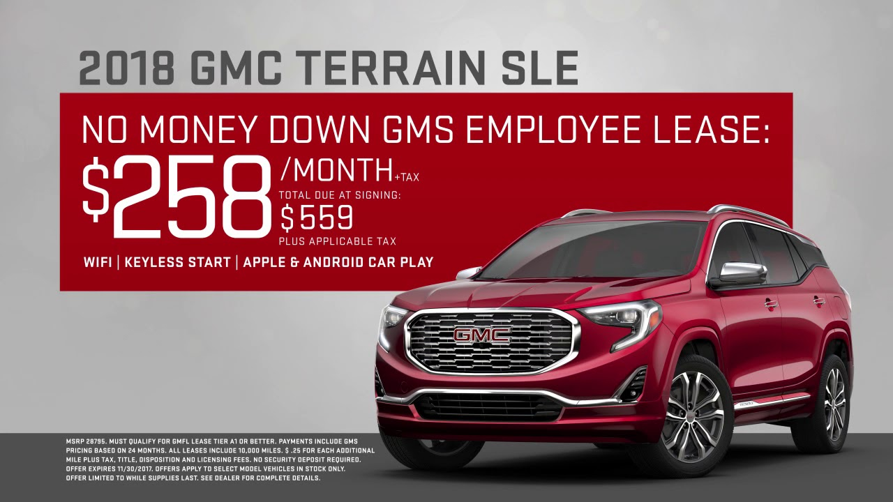 No Money Down Lease Deals >> Gmc Terrain Lease No Money Down Best Upcoming Car Release 2020